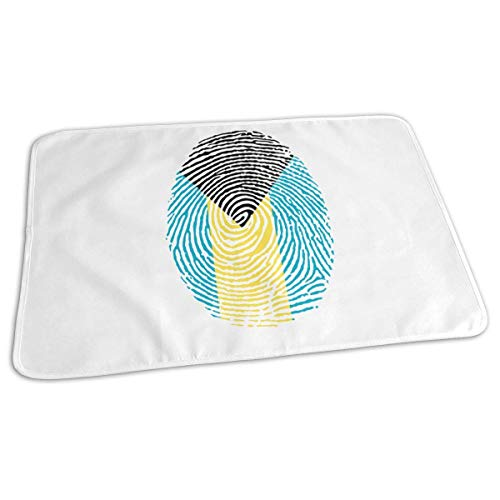 Bahamas Vlag Vinger Baby Herbruikbare Changing Pad Cover Draagbare Travel Changing Mat 27.5x19.7 inch