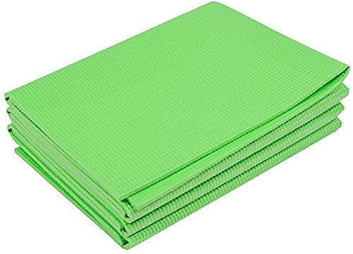 Alfombras de yoga plegables para viajes - alfombra de ejercicios para yoga, pilates, entrenamiento, gimnasio, fitness - sin deslizamiento Plegable portátil Al aire libre Camping Mat (color: púrpura, T