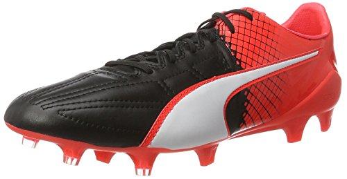 Puma Fußballschuh Evospeed 1.5 Lth Fg Mehrfarbig (schwarz/rot/weiß) EU 44 (UK 9.5)