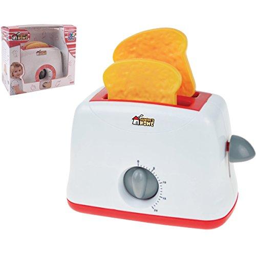 Unbekannt Kinder Spielzeug Toaster mit Sound, 2 Toastscheiben, Zeitmesser zum Einstellen - Küchengerät Spiel Toast Spielküche Kinderküche Zubehör