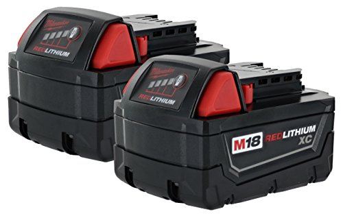 Milwaukee 48-11-1828 M18 XC RED LITHIUM 18-Volt Lithium-ion Cordless Tool Battery ( 2 pack )