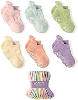 LA Active Grip Ankle Socks - 6 Pairs - Baby Toddler Kids...