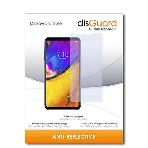 disGuard® Bildschirmschutzfolie [Anti-Reflex] kompatibel mit LG V35 ThinQ [2 Stück] Entspiegelnd, Matt, Antireflektierend, Extrem Kratzfest, Anti-Fingerabdruck - Panzerglas Folie, Schutzfolie