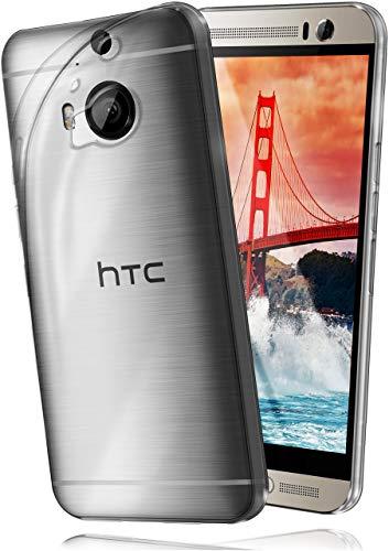 moex Aero Hülle für HTC One M9 Plus - Hülle aus Silikon, komplett transparent, Handy Schutzhülle Ultra dünn, Handyhülle durchsichtig - Klar
