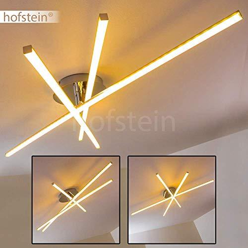LED plafondlamp Powassan, moderne plafondlamp in chroom, 3 vlammen met een verstelbare lichtlijst, 3 x 8 Watt, elk 800 lumen (2400 lumen totaal), lichtkleur 3000 Kelvin (warm wit)