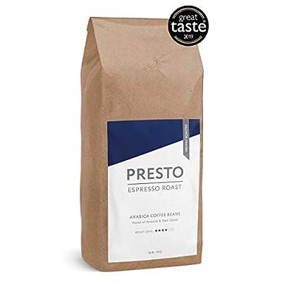 Presto Coffee Beans - Cafè Espresso - Medium Roast Espresso Coffee Beans - 100% Arabica - 1KG