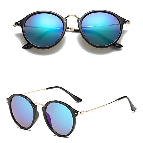 Gafas de Sol Gafas De Sol Retro De Metal para Hombre, Anteojos para Hombre/Mujer, Anteojos Vintage para Hombre, Lujo, Negro, Verde