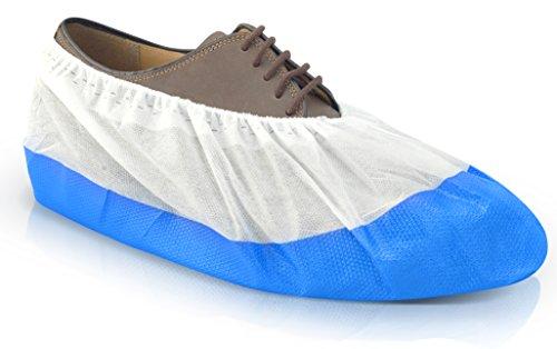 Long Life Überschuhe Schuhüberzieher mit rutschfester Sohle extra stark von Urban Medical® | 50 Onesize Überziehschuhe Schuh Überzieher Wasserfest Reißfest Durchriebsicher Einweg Indoor Outdoor