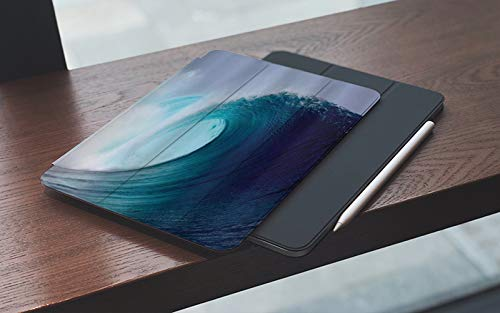 Funda para iPad 10.2 Pulgadas,2019/2020 Modelo, 7ª / 8ª generación,Ocean Tropical Surfing Wave en un mar ventoso Indonesia Sumatra Picture Print, Smart Leather Stand Cover with Auto Wake/Sleep