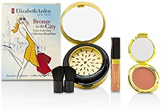 Elizabeth Arden Bronze In The City Color Collection (1 x Bronzing Powder, 1 x Blush, 1 x Lip Gloss, 1 x Brush) 4pcs