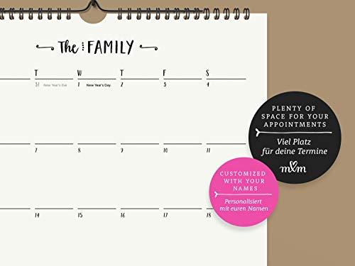 Neu: Großer Familienkalender 2020 | Kalender 2020 | Personalisierter Wandkalender A3 | Monatskalender