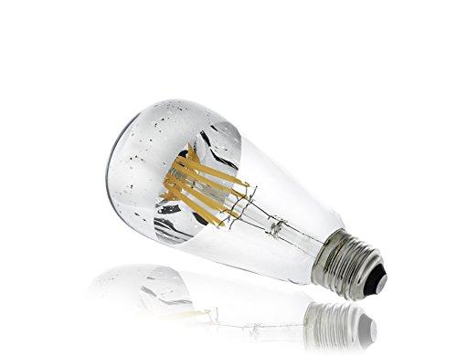 silbernes luce Macchiettato, filamento LED, 8W lampadina Pari a 70W lampadina, e 27, Luce, Luce, Lampada, gesprenkeltes, Luce Dimmerabile, Bianco caldo [classe di efficienza energetica A + +]