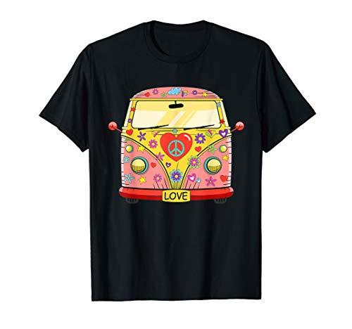 Hippie Kostüm Camper Bus Flower Power Love Peace 60er 70er T-Shirt