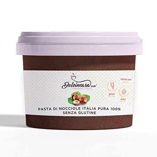 Dolcincasa-com Pasta Di Nocciole Italia Pura 100%, Per Gelati, Creme, Per Caffè E Usi Vari In Pasticceria Senza Glutine H, Nocciola, 500 Grammo