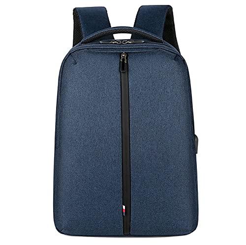 JGL Zaino da viaggio multifunzionale da uomo Zaino impermeabile per laptop da 15,6 pollici Zaino da lavoro antifurto in tessuto spesso Ricarica USB-blue