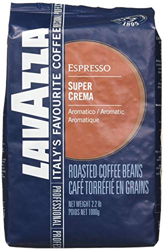 """Lavazza Italian """"Super Crema"""" Espresso Whole Bean Value Pack (3 x 2.2 lb bags)"""