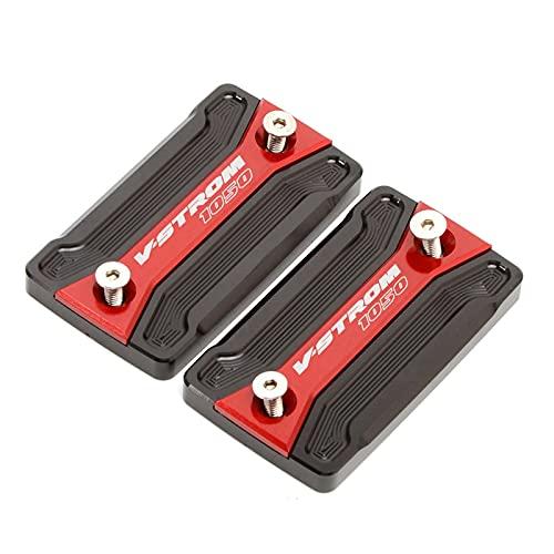 Tapa Las Tapas Depósito Líquido Frenos Tapa De Depósito De Líquido De Freno Delantero De Motocicleta para Suzuki V-Strom 1050 / XT VSTROM 1050 2020 (Color : Rojo)