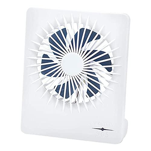 Estrella-L Ventilador portátil Mini ventilador silencioso de escritorio Ventilador USB recargable adecuado para el hogar, cama, oficina (ventilador cuadrado)