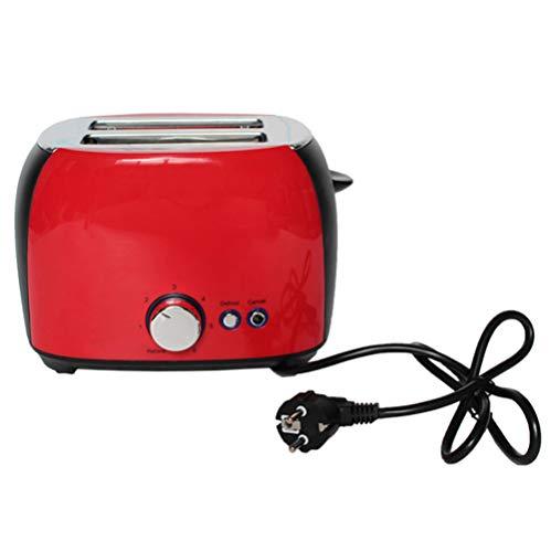 NAFE Tostadora eléctrica, máquina automática para Hornear Pan Tostada Sandwich Grill Horno Máquina 2 rebanadas Hogar para el Desayuno UE-Red
