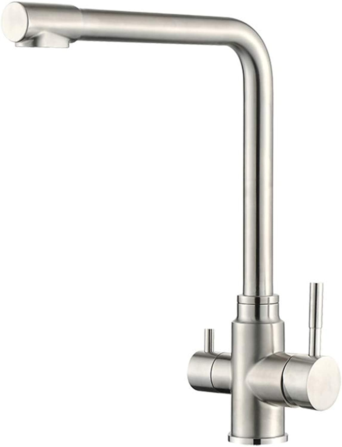 Basin Faucetmultifunctional Water Purification Faucet Washing Vegetable Basin Cold and Hot 304 Stainless Steel redary Flume Faucet