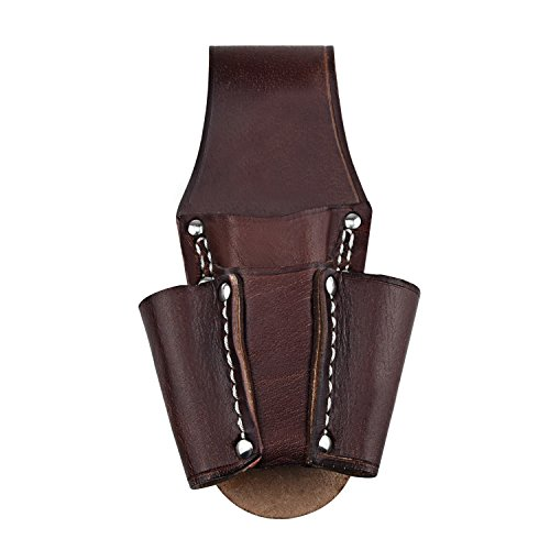 NKTM Leather Electrician's Pocket Leather Tool Pouch Heavy Duty Tool Pouch with 4 Pockets