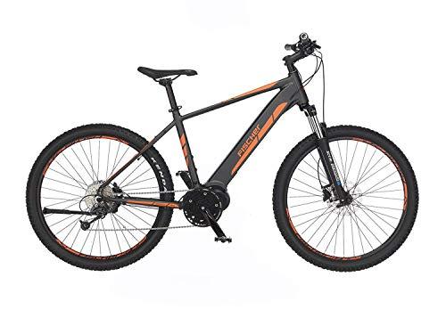 Fischer E-Mountainbike MONTIS 4.0i, E-Bike MTB, grau matt, 27,5 Zoll, RH 48 cm, Mittelmotor mit 50 Nm, 48 V Akku im Rahmen