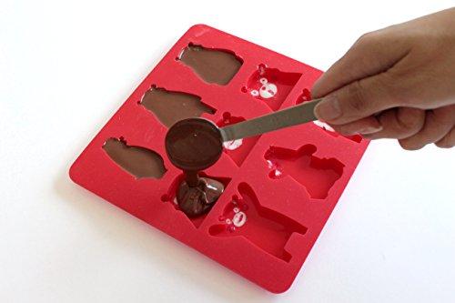 サンクラフトシリコン型チョコレートモールドくまモンのチョコレート型製菓SIG-70