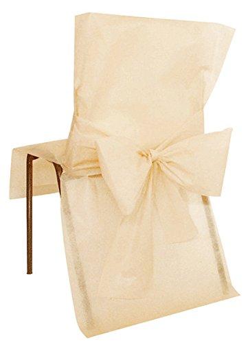 10 Housses de chaise Premium ivoire - taille - Taille Unique - 212669
