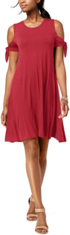 Style & Co. Petite ColdShoulder TieSleeve Dress
