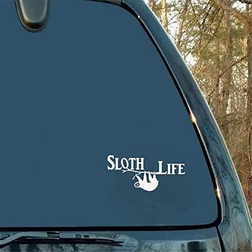 13.8 * 6.2CM luiaard leven grappige betekenis auto raam Sticker Styling Mooie Decal motorfiets embleem zijdecoratie voor Lazy Lifestyle