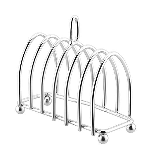 Toaster Holder Stainless Steel Wire Holder Bread Kitchen Craft Chrome Metal Toast Holder X (Color : Silver)
