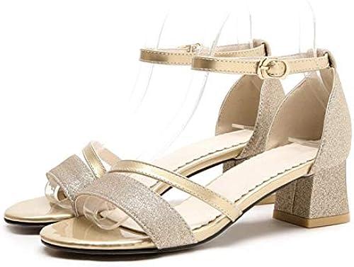 HommesGLTX Talon Aiguille Talons Hauts Hauts Hauts Sandales Super Taille 31-52 Chaussures Femmes Sandales Plateforme Talons Hauts 18-1 3.5 Or a31