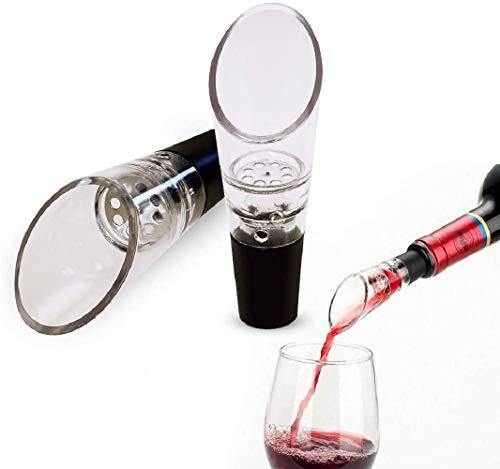 AMW Aeratore per vino, godetevi la migliore qualità, apprezzare il segreto del gusto, versatore di vino rosso, decanter e versamento rapido di vino