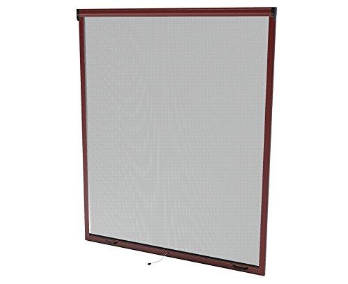Windhager 03867 160x160 braun Insektenschutz Rollo Fenster, 160 x 160 cm
