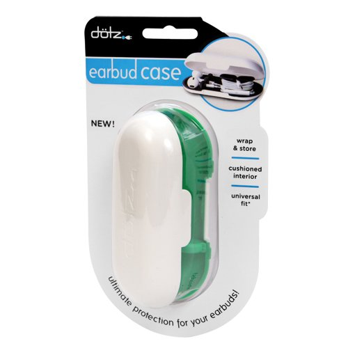 Dotz Earbud Case, Protection and Storage for Earbuds, Including Wireless Earbuds, Green (EBC38M-CE)