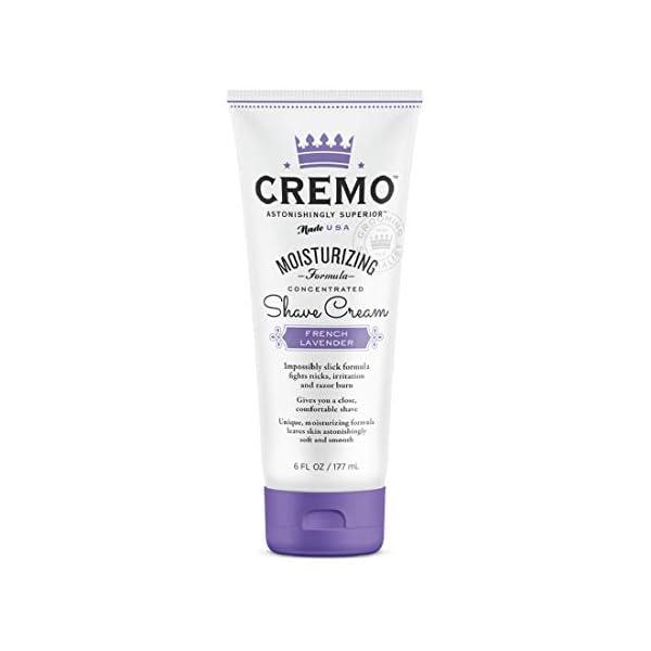Cremo French Lavender Moisturizing Shave Cream, Lavender Bliss, 6 Fl Oz 1