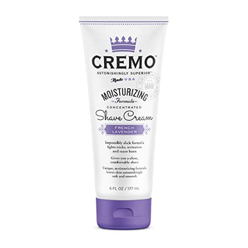 Cremo French Lavender Moisturizing Shave Cream, Lavender Bliss, 6 Fl Oz