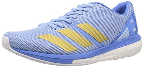adidas Damen Adizero Boston 8 W Laufschuhe, Blau (Glow Blue/Gold Met./Real Blue Glow Blue/Gold Met./Real Blue), 39 1/3 EU