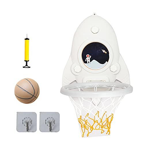 Mini aro de baloncesto portátil, juego de mini canasta de baloncesto con altura ajustable y sin impacto, juguete para niños