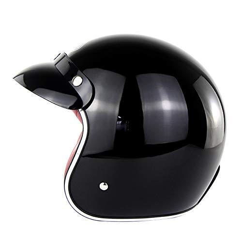 Massage-AED Casco De Motocicleta Mujer, Casco Abierto Adultos Moto Cascos Helmet Confortable Casco Moto para Street Bike Cruiser Chopper Moped Scooter, ECE Homologado