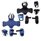 dailymall 2 Juegos de Protectores de Cabeza, Ingle de Pecho Y Espinilleras de MMA para Entrenamiento de Kickboxing, Karate, Taekwondo