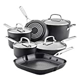 KitchenAid Hard Anodized Induction Nonstick Cookware Pots and Pans Set, 10 Piece, Matte Black