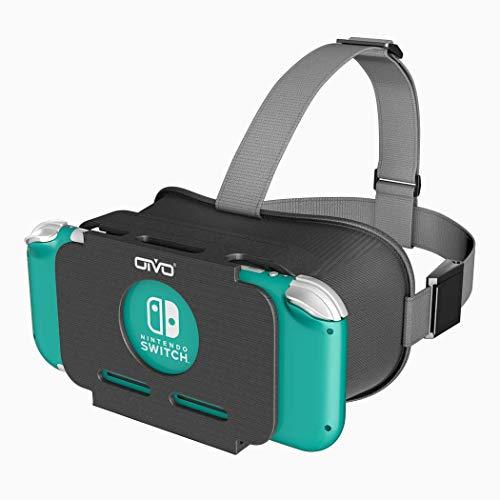 Switch Lite VR OIVO スイッチライトVR VRゴーグル メガネ3D ゲーム 映画 動画 固定ヘッドバンド付 VRグラス Switch Lite対応 VRボックス マリオ・ゼルダなど対応 EVE 360°VR