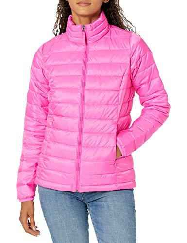 Amazon Essentials Damen Lightweight Water-resistant Packable Puffer Jacket Steppjacke,Pink(Neonrosa),M