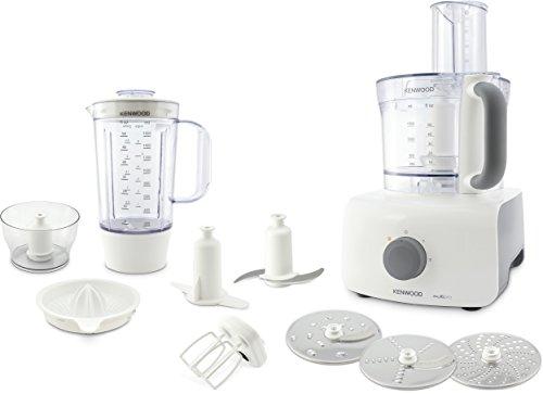 Kenwood FDP645WH MultiPro Home Food Processor, Robot da Cucina con Frullatore e spremiagrumi, 1000 W, 3 Litri, Plastica, Bianco