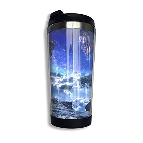 Taza de café de viaje Fantasy Landscape Taza de café con aislamiento de acero inoxidable Botella de agua deportiva 13.5 Oz (400 ml) MUG-5124
