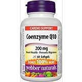 Webber Naturals Coenzyme Q10 200 mg, 60 softgels Bonus Size
