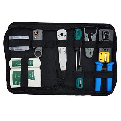 No branded Probador de la Red Red Tool Kit Set, Crimp Tool RJ45, Cat5 Cat6 Cable Tester reparación de desmontaje del Alambre del Cortador