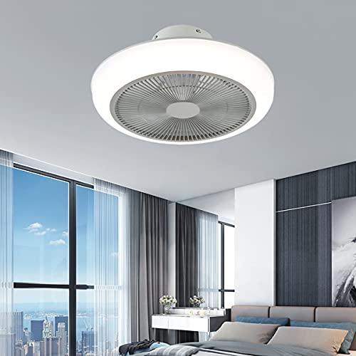 Luz Ventilador Techo Invisible Ventilador De Techo Con Iluminación Y Mando a Distancia Lámpara Techo Colgante Regulable Iluminación Interior Velocidad Del Viento Ajustable Dormitorio