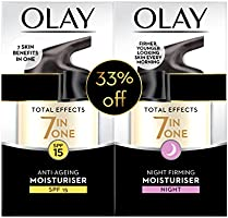 Olay Total Effects 7in1 Beauty Box: Anti-Aging Moisturiser SPF15 50 ml + Night Firming Moisturiser 50 ml